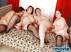 Big beautiful women playing with their pussies in hot orgy!