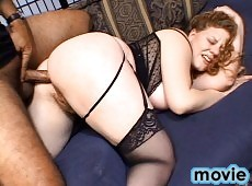 Chuncky MILF Getting Her Ass Drilled By Big Black Cock